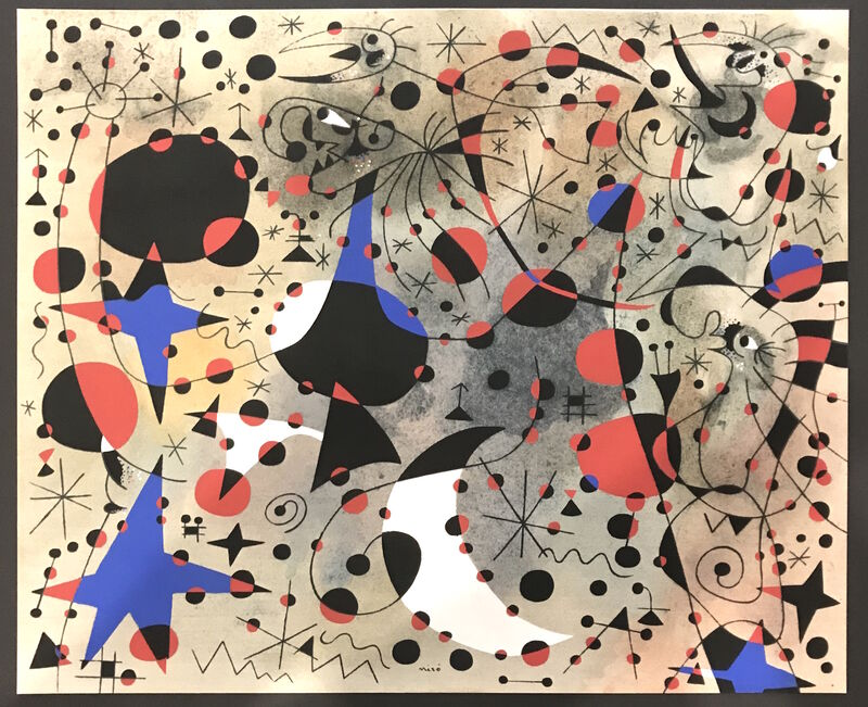 Joan Miró, 'Le chant du rossignol a minuit et la pluie matinale (The Nightingale's Song at Midnight and the Morning Rain), Plate XI', 1959, Print, Pochoir, Georgetown Frame Shoppe