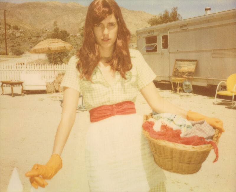 Stefanie Schneider, 'Loneliness doesn't exist outside of your mind! (The Girl behind the White Picket Fence)', 2013, Photography, Digital C-Print based on a Polaroid, not mounted, Instantdreams