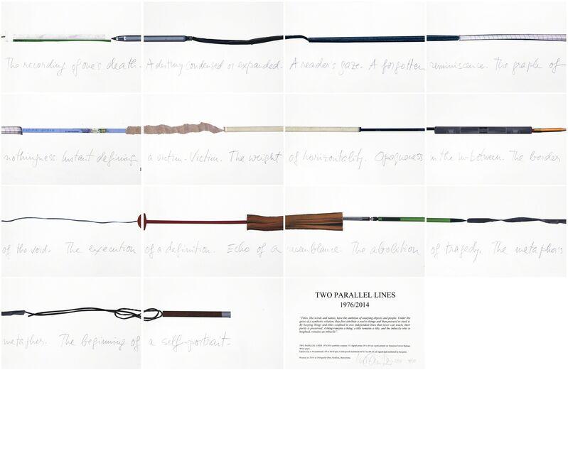Luis Camnitzer, 'Two Parallel lines', 2014, Print, Polígrafa Obra Gráfica