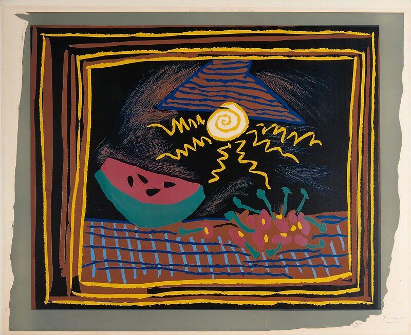 Pablo Picasso, 'Nature Morte à la Pastèque', 1962, Print, Linocut in colors on Arches wove paper (framed), Rago/Wright