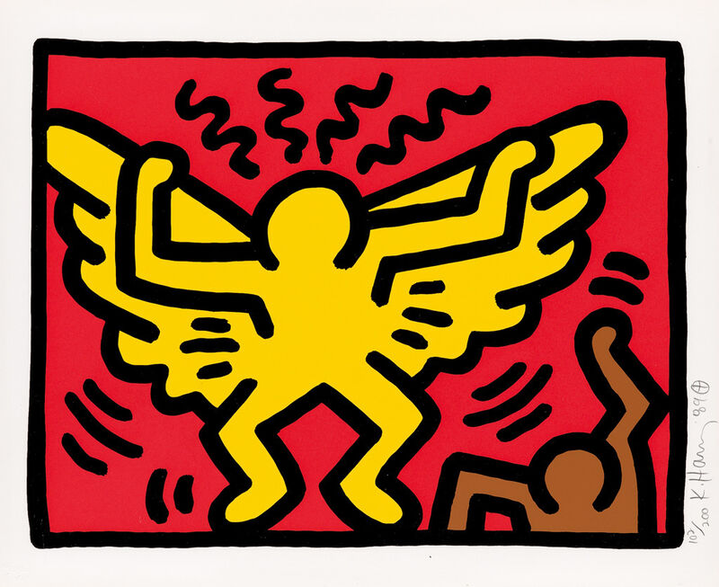Keith Haring, 'Pop Shop IV (A)', 1989, Print, Silkscreen on paper, Taglialatella Galleries