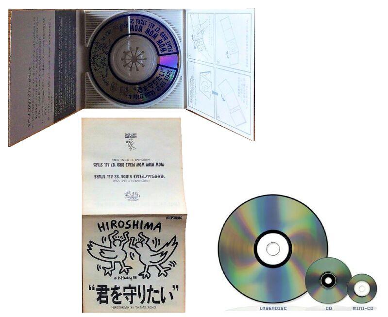 "Keith Haring, '""Hiroshima88"", 1988, First Pressing, Mini CD (rare version), Diameter 2.75 in. (7 cm.)', 1988, Ephemera or Merchandise, Plastic, VINCE fine arts/ephemera"