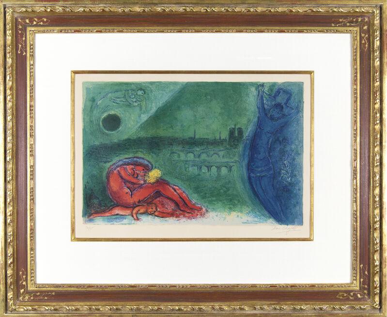 Marc Chagall, 'Regards sur Paris: Quai de la Tournelle', 1960, Print, Color lithograph on Arches wove paper, Galerie Michael