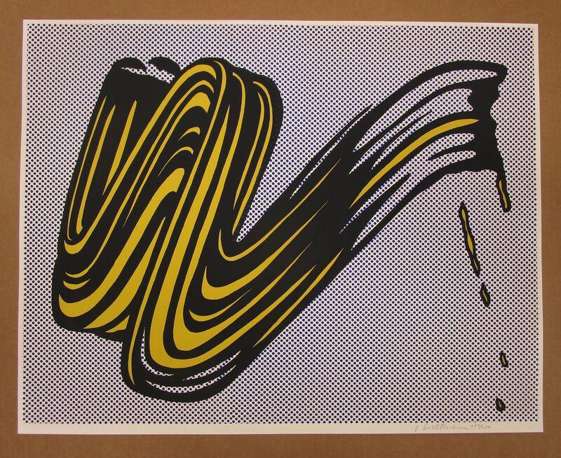 Roy Lichtenstein, 'Brushstroke ', 1965, Print, Screenprint on heavy white wove paper, Fine Art Mia
