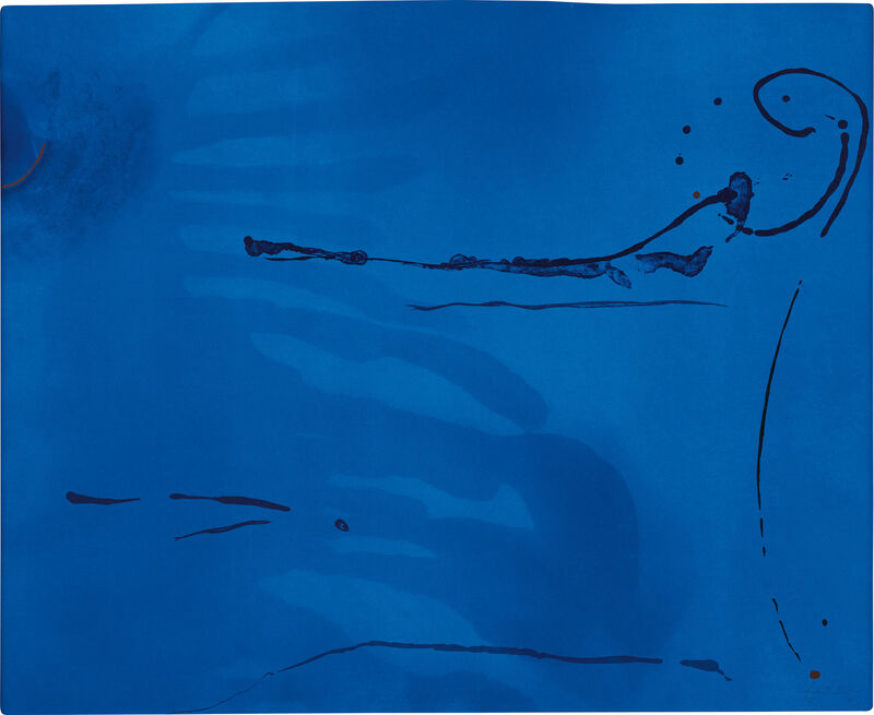Helen Frankenthaler, 'Blue Current (H. 134)', 1987, Print, Aquatint, etching, lithograph and engraving in colors, on Rives BFK paper, the full sheet., Phillips