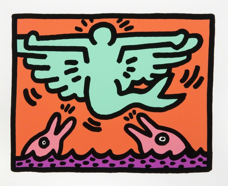 Keith Haring, 'Untitled VC', 1989, Print, Silkscreen on paper, Julien's Auctions