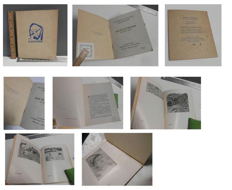 "Wassily Kandinsky, '""The Blue Rider (Der Blaue Reiter)"", 1912, The Second Exhibition Catalogue, Cover by Kandinsky, Published by Hans Goltz Munich, RARE', 1912, Ephemera or Merchandise, Print on paper, VINCE fine arts/ephemera"