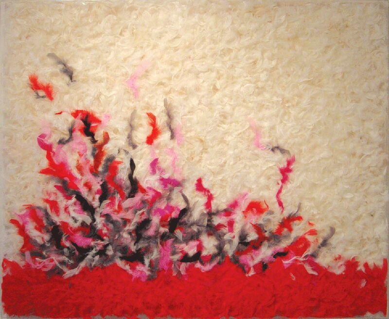 Daniel Gastaud, 'Abstract', 2006, Mixed Media, Feathers under plexi, Eden Fine Art