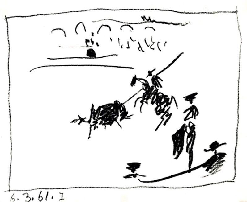 Pablo Picasso, 'La Pique', 1961, Print, Original lithograph in black ink, michael lisi / contemporary art