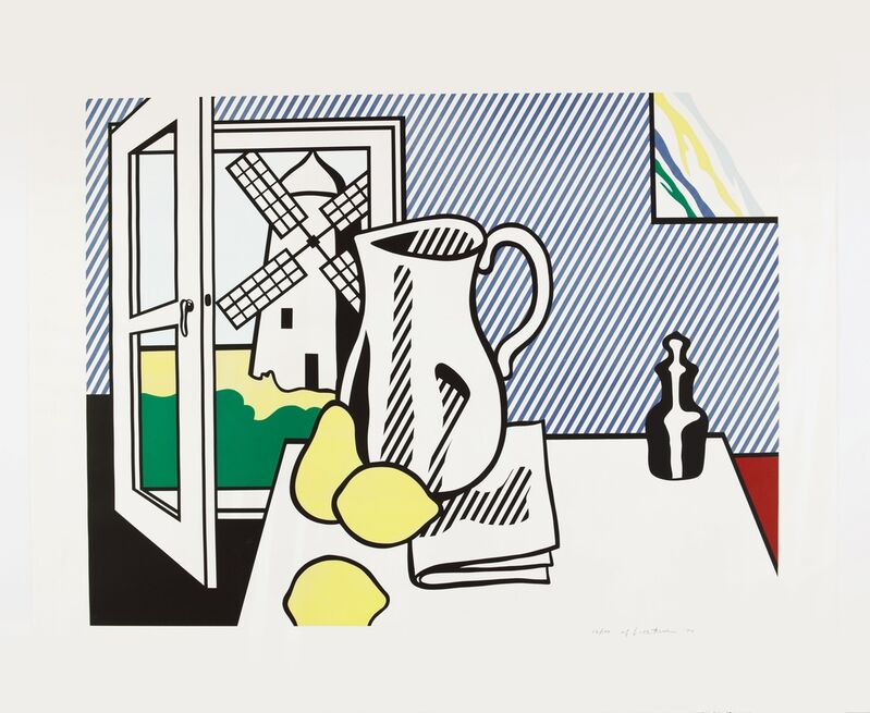 Roy Lichtenstein, 'Still Life with Windmill ', 1974, Print, Lithograph and screenprint with debossing on Rives BFK paper, Fine Art Mia