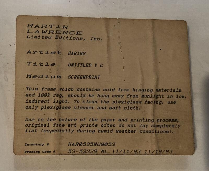 Keith Haring, 'Pop Shop V Plate 3', 1989, Print, Screenprint on paper, Georgetown Frame Shoppe