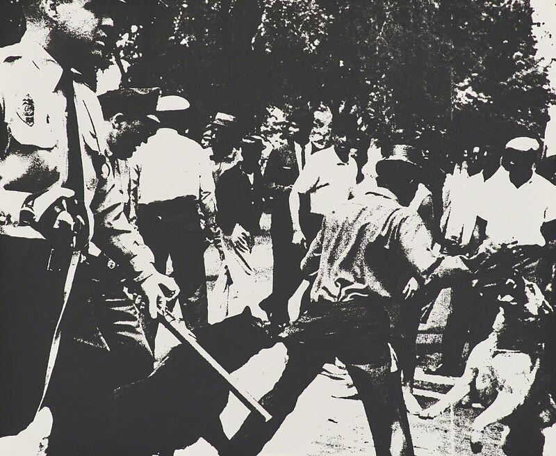 Andy Warhol, 'Birmingham Race Riot from Ten Works by Ten Painters', 1964, Print, Screenprint on wove paper, Rago/Wright