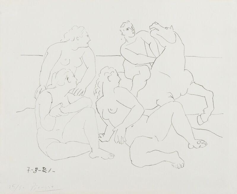 Pablo Picasso, 'La Cavalier (Bloch 40; Mourlot VIII)', 1921, Print, Rare lithograph on Arches wove paper, Forum Auctions