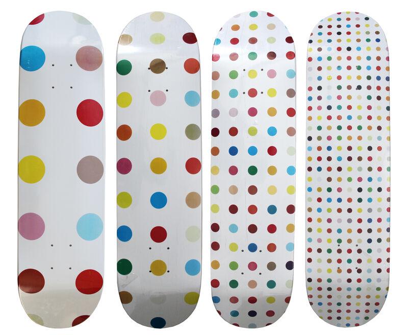 Damien Hirst, 'Supreme Spot skateboard decks set of 4', 2009, Print, Screenprint on skateboard decks, EHC Fine Art