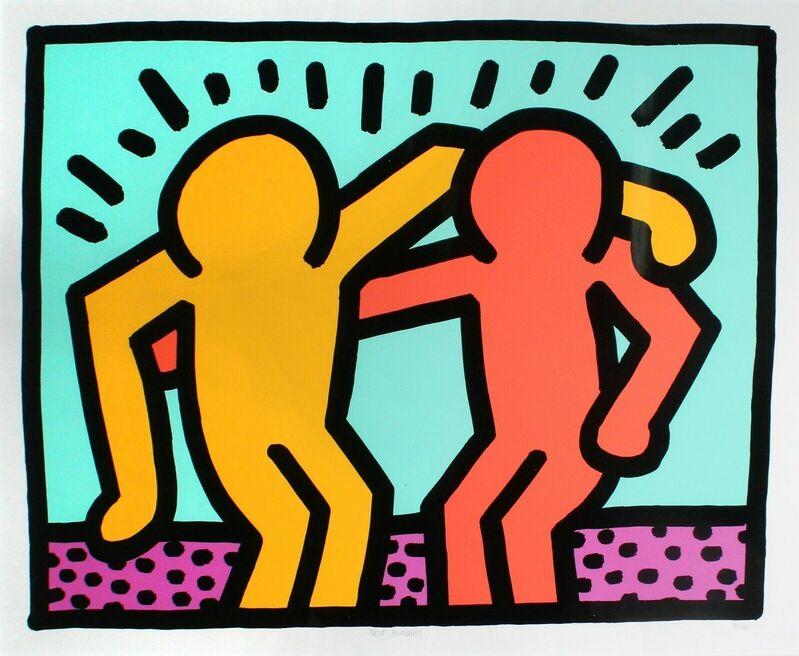 Keith Haring, 'Best Buddies', 1990, Print, Screenprint in colors on wove paper, DANE FINE ART