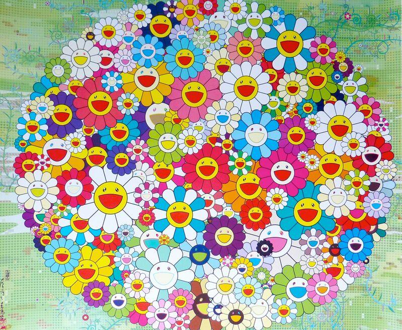 Takashi Murakami, 'Open Your Hands Wide (Versailles)', 2010, Print, Lithograph, Soho Contemporary Art