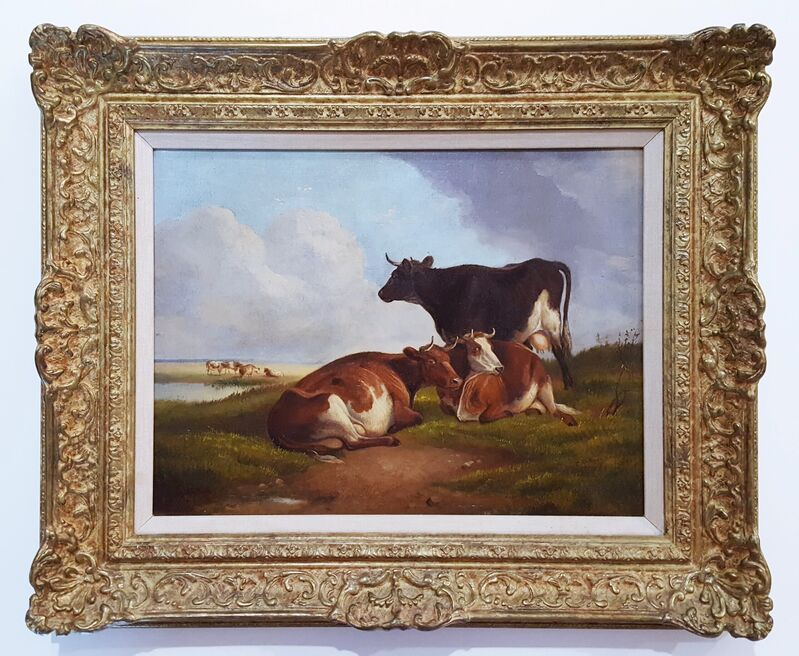 Thomas Sidney Cooper, C.V.O., R.A., 'Landscape with Cows', 1891, Painting, Oil Painting on Canvas, Graves International Art