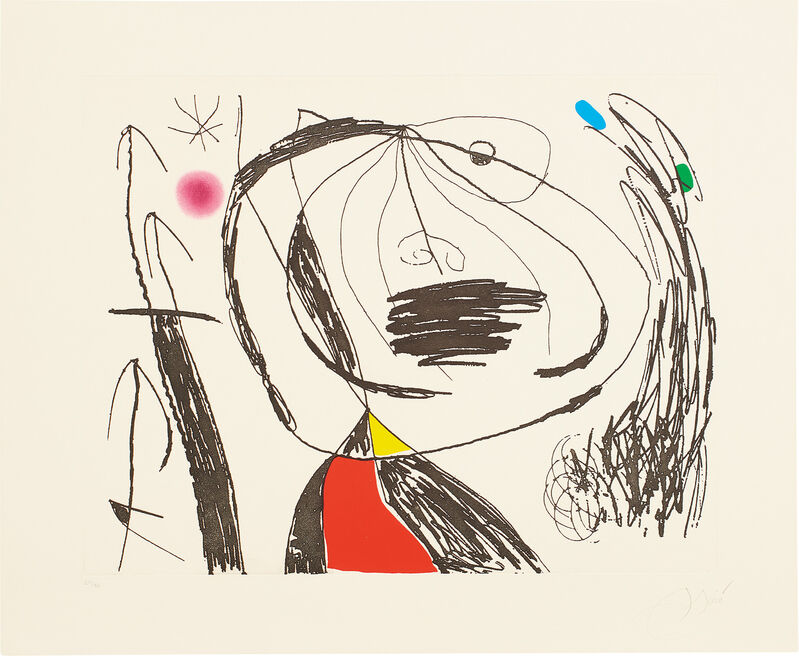 Joan Miró, 'Série Mallorca (Mallorca Series): plate 5', 1973, Print, Etching and aquatint in colors, on wove paper, with full margins., Phillips
