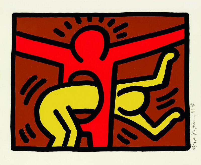 Keith Haring, 'Pop Shop IV (C)', 1989, Print, Silkscreen on paper, Taglialatella Galleries