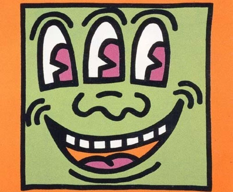 Keith Haring, 'Icons (E) - Three Eyed Man', 1990, Print, Silkscreen with embossing, Taglialatella Galleries