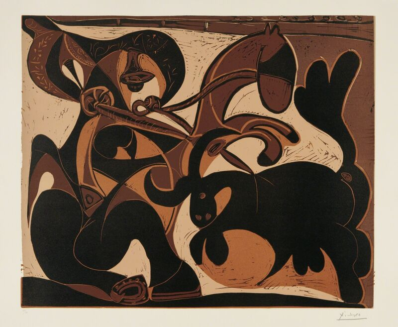 Pablo Picasso, 'Pique (Bullfight)', 1959, Print, Linocut in colors, on Arches paper, with full margins, Phillips