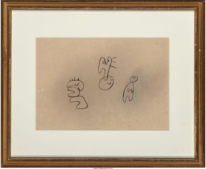 Joan Miró, 'Untitled', 1934, Mixed Media, Pastel and ink on paper laid on paper, Heritage Auctions