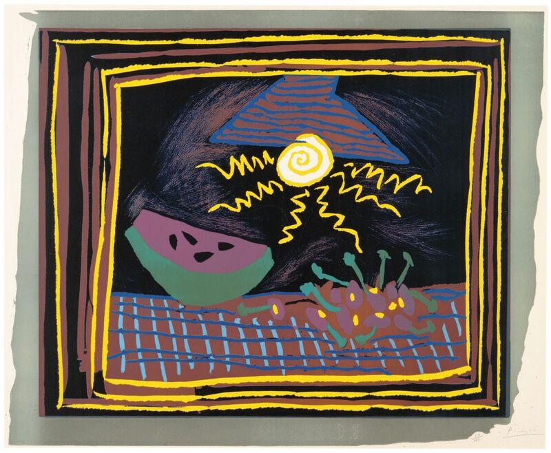 Pablo Picasso, 'Nature morte à la pastèque', 1962, Print, Linocut in colors, on Arches paper, Christie's