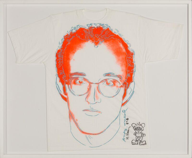 Andy Warhol, 'Keith Haring T-shirt ', ca. 1980, Mixed Media, Silkscreen on t-shirt, Rudolf Budja Gallery