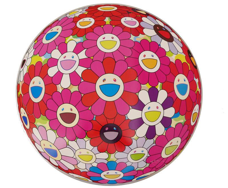 Takashi Murakami, 'Flower Ball (3D) - Turn Red', 2013, Print, Lithograph, @Whatever Artspace
