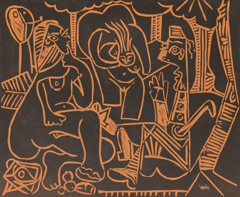 Pablo Picasso, 'Le déjeuner sur l'herbe', 1964, Design/Decorative Art, Terre de faïence plaque, Heritage Auctions