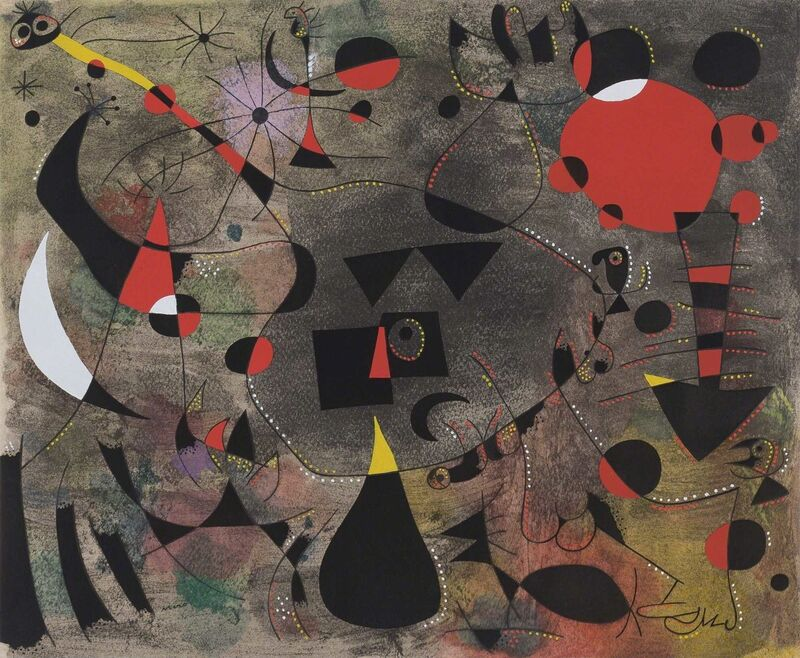 Joan Miró, 'Constellations (M. 261; Cramer Books 58)', 1959, Print, Complete set of one color lithograph and 22 color pochoir reproductions after gouaches by the artist, on Arches paper, Doyle