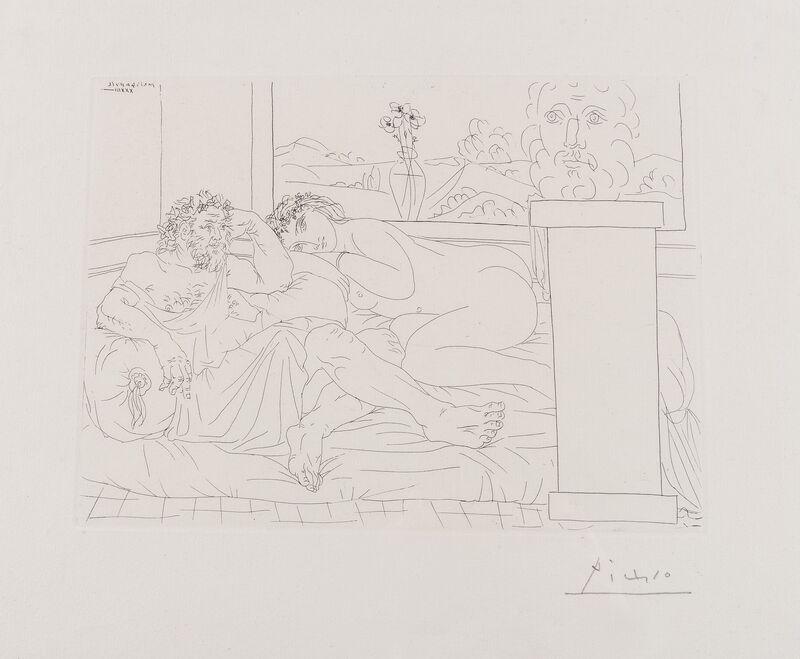Pablo Picasso, 'Le Repos de Sculpteur IV (from the Vollard Suite) (Bloch 174)', 1933, Print, Etching, Forum Auctions
