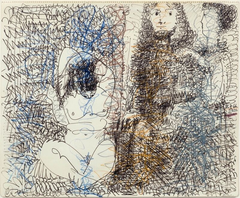 Pablo Picasso, 'Trois Personnages', 1966, Drawing, Collage or other Work on Paper, Crayon and felt pen on paper, Max Lang
