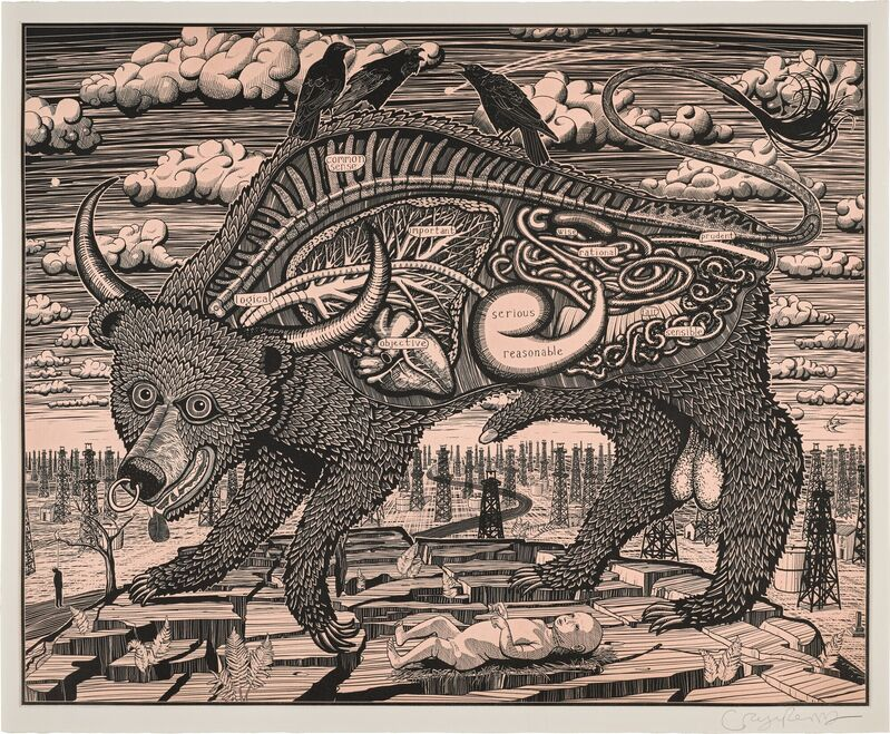 Grayson Perry, 'Animal Spirit (Pink)', 2016, Print, Etching, The Drang Gallery