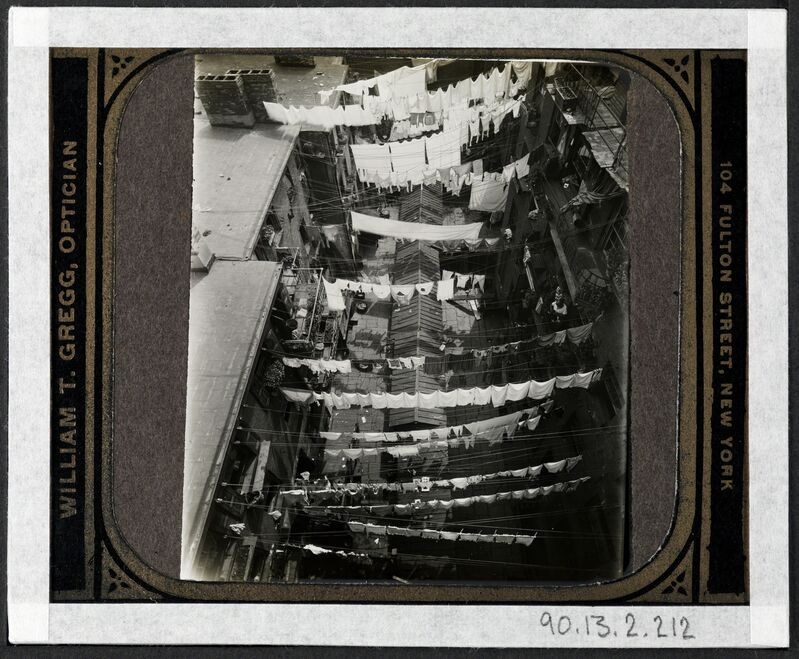 Jacob A. Riis, '[Thompson Street, bird's eye view.]', ca. 1895, Photography, Gelatin silver transparency, Museum of the City of New York