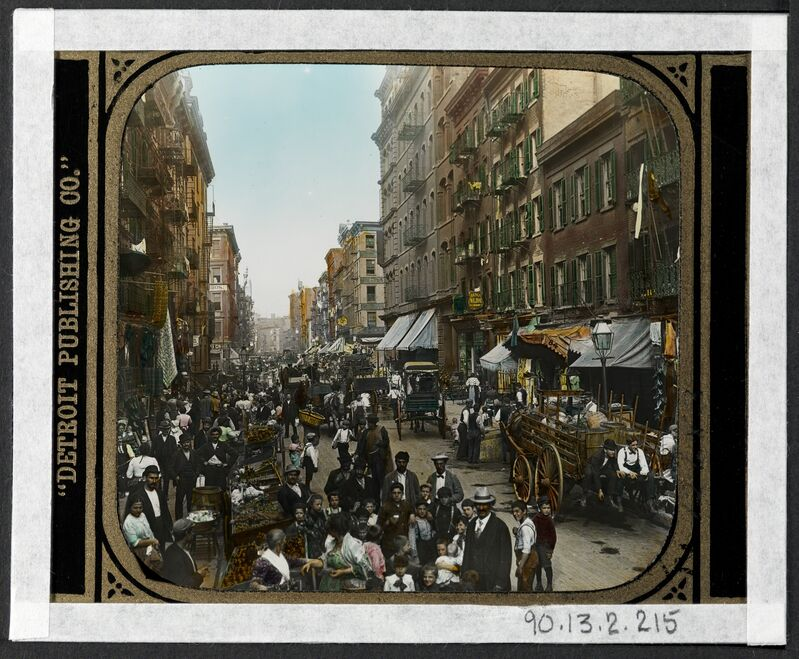 Jacob A. Riis, 'Mulberry Street', 1900, Photography, Gelatin silver transparency, Museum of the City of New York