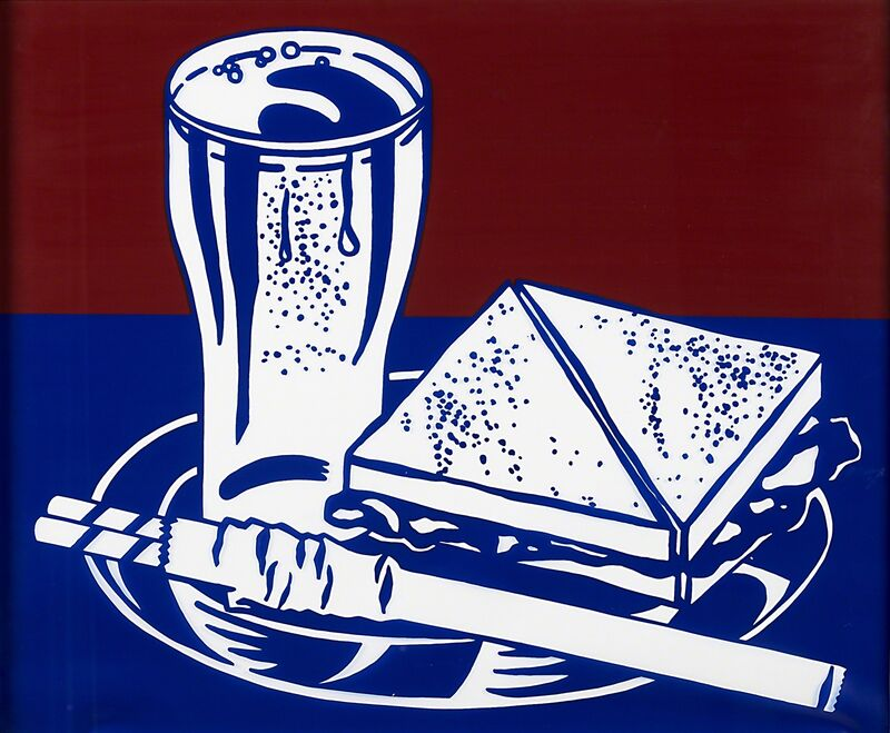 Roy Lichtenstein, 'Sandwich and Soda (Lunch Counter), from Ten Works by Ten Painters', 1964, Print, Screenprint in colors on Mylar plastic (framed), Rago/Wright