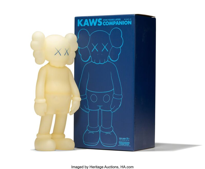 KAWS, 'Five Years Later Companion (Glow in the Dark', 2004, Sculpture, Painted cast vinyl, Heritage Auctions