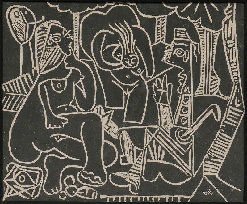 Pablo Picasso, 'Le déjeuner sur l'herbe', 1964, Design/Decorative Art, Partially glazed white earthenware clay plaque, Skinner