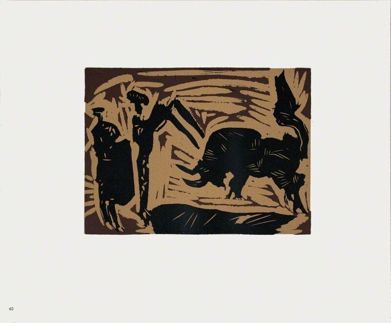Pablo Picasso, 'Banderilles', 1962, Print, Linocut, ArtWise