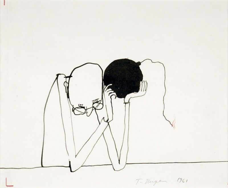 Tomi Ungerer, 'Untitled', 1961, Drawing, Collage or other Work on Paper, Ink, pencil, and colored pencil on paper, Drawing Center
