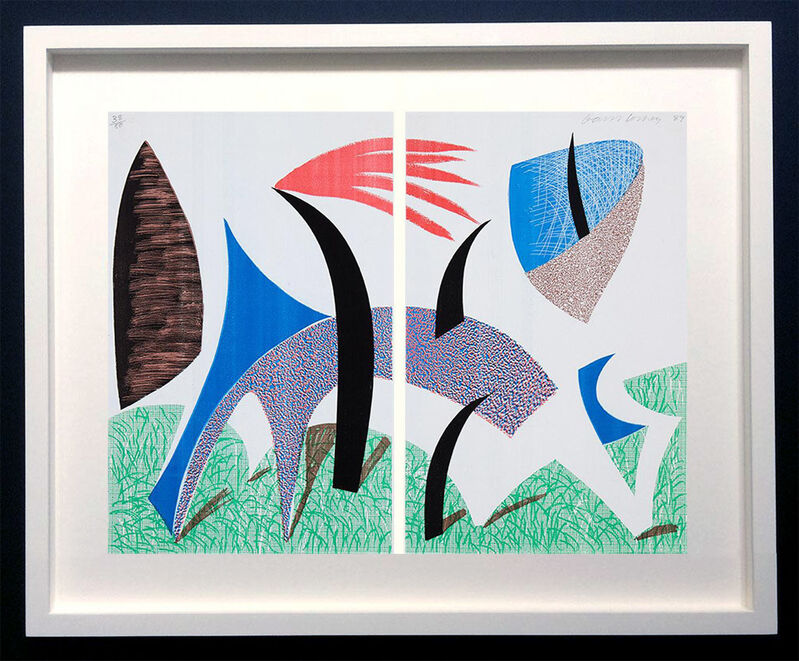 David Hockney, 'Diptychon', 1989, Print, Colour photocopy printed on two sheets of thin laid paper with an office copy machine, ModernPrints.co.uk