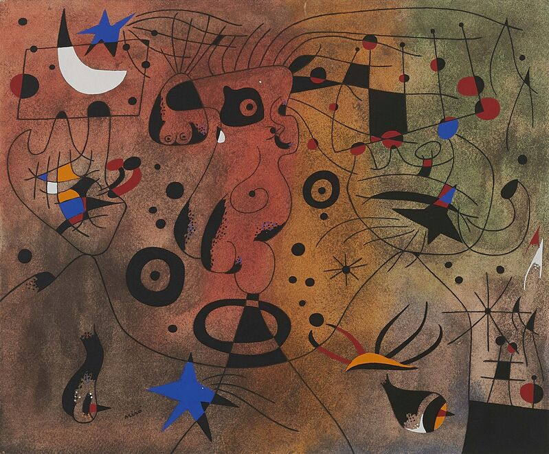 Joan Miró, 'From: Constellations', 1959, Print, Pochoir on laid paper. Mounted in mat, Van Ham