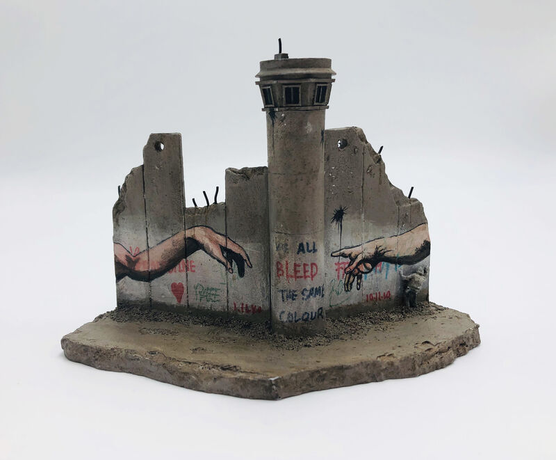 Banksy, 'Banksy, Walled Off Hotel - Wall Sculpture (Hands)', 2018, Ephemera or Merchandise, Miniature concrete souvenir sculpture, hand painted by local artists, Lougher Contemporary