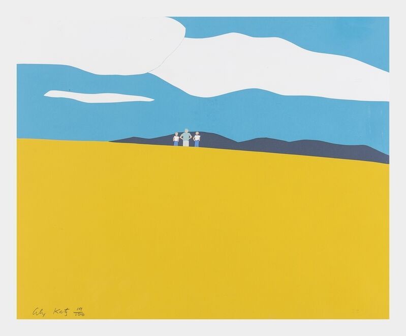 Alex Katz, 'Blueberry Field (Scröder 17)', 1968, Print, Screenprint in colours, Forum Auctions