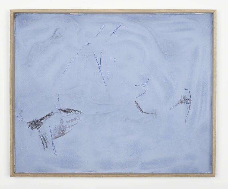 Nick Mauss, 'even with closed eyes', 2014, Mixed Media, Wire mesh, plaster, acrylic, charcoal, pastel, Campoli Presti
