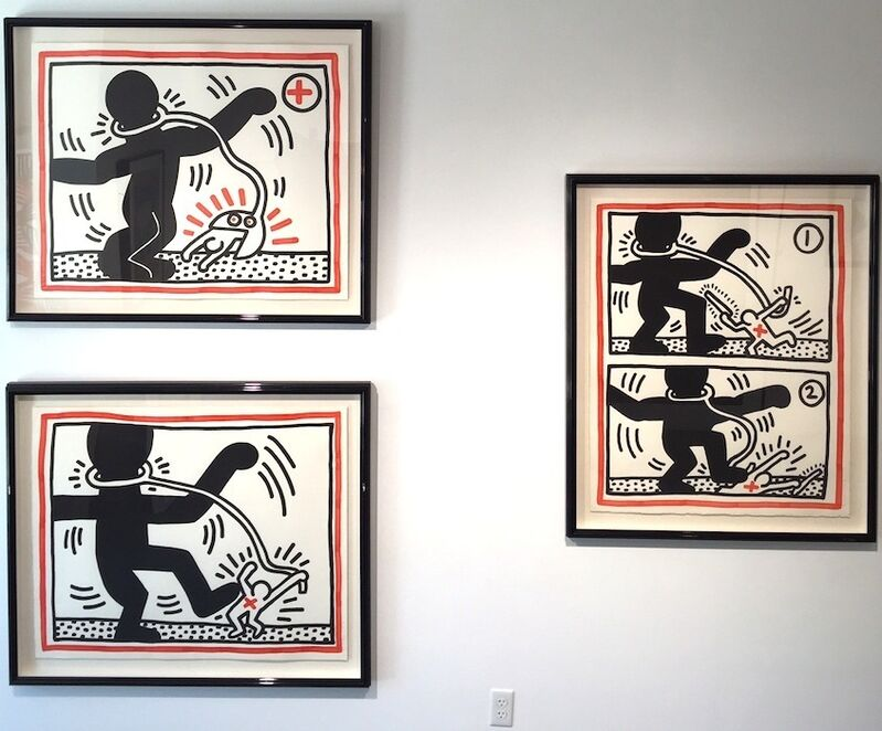 Keith Haring, 'Free South Africa, complete set of 3', 1985, Print, Lithograph, Gregg Shienbaum Fine Art