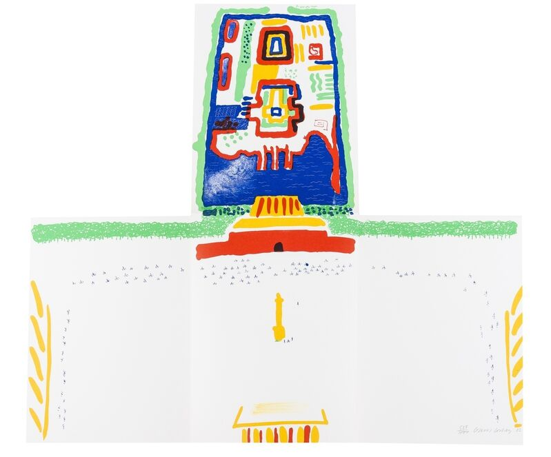 David Hockney, 'Red Square and the Forbidden City, from China Diary (MCA Tokyo 254)', 1982, Print, Lithograph printed in colors, Forum Auctions