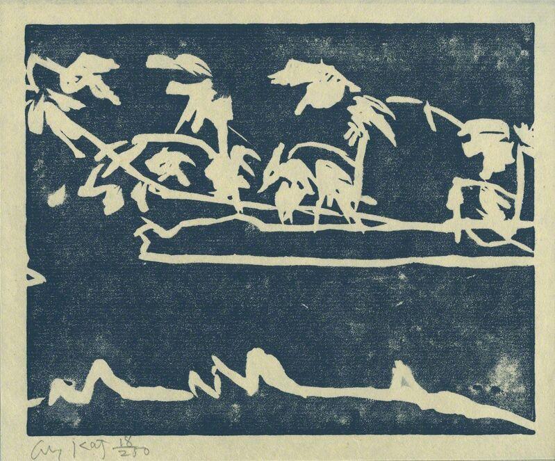 Alex Katz, 'Coleman's Pond', 1989, Print, Linocut on Japanese vellum paper, Galerie Klüser