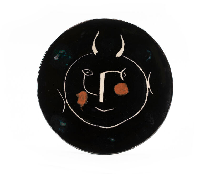 """Pablo Picasso, 'Two """"Black Face"""" service plates from the dinnerware series', 1950s, Design/Decorative Art, Earthenware with colored engobe, John Moran Auctioneers"""